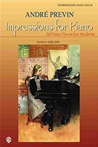 Fb2 Impressions for Piano: 20 Piano Pieces for Students ePub