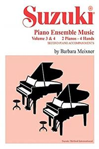 Fb2 Suzuki Piano Ensemble Music for Piano Duo, Vol 3  4: Second Piano Accompaniments (Suzuki Piano School) ePub